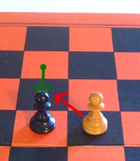 the enpassant capture move of the chess pawn