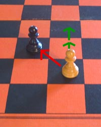 the capture move of the chess pawn