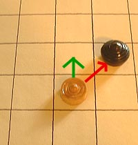 move of the pawn 'bia' or cowry shell in makruk (Thai chess)