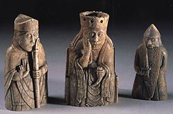 the famous 'Lewis; chessmen, from the 12th century